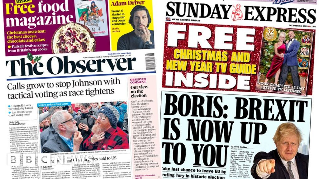 The Papers:  Anti-Tory tactical vote  and  Brexit s up to you