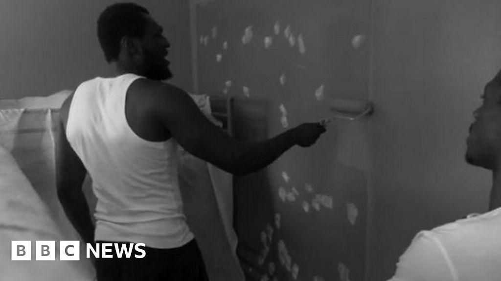 Stormzy's surprise paint job for Croydon teen's bedroom