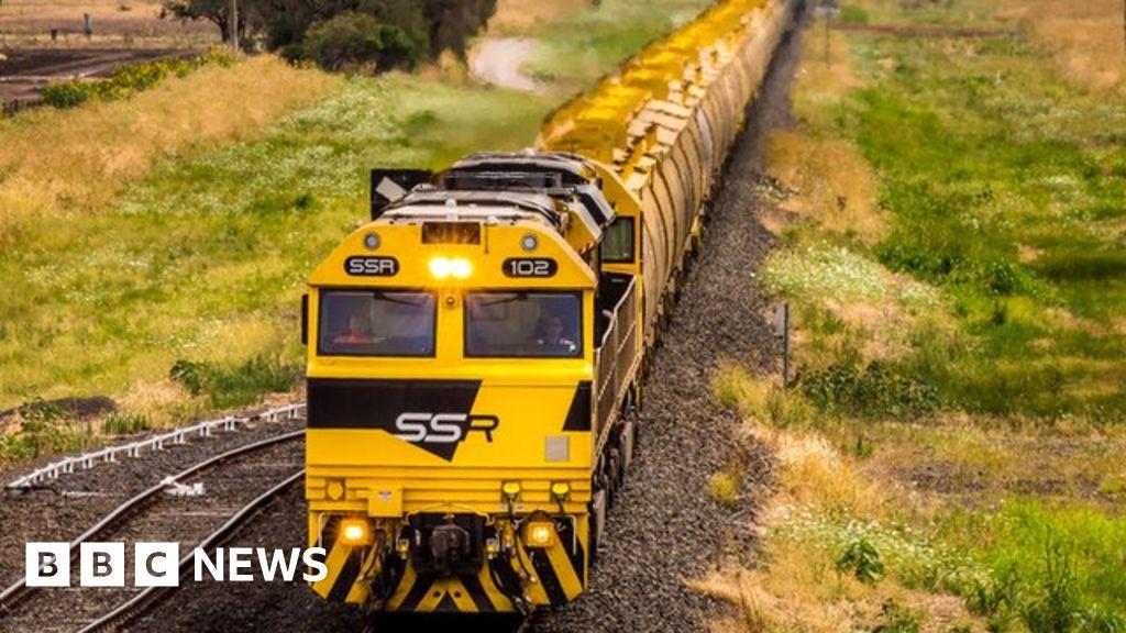 Grain train in New South Wales