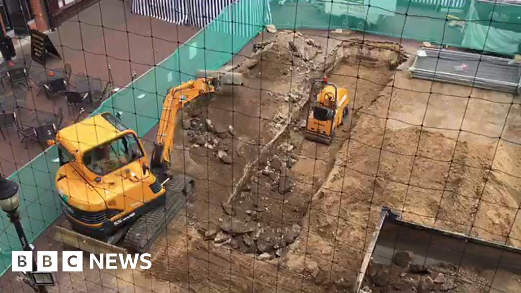 Ipswich Cornhill: Trench-digging ahead of archaeological study