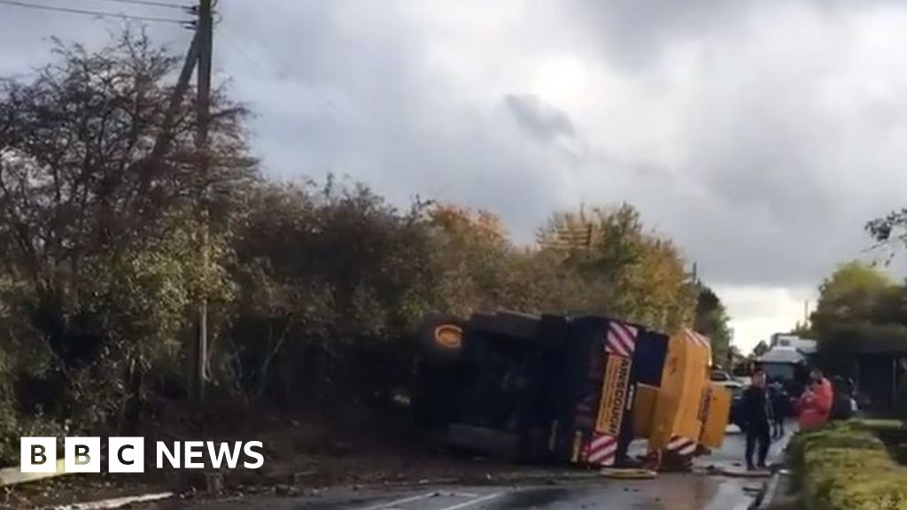 A140 crane truck crash: 'Why was stretch of A road closed ...