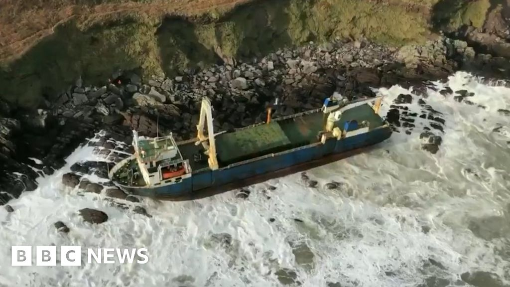 'Ghost ship' washes up on Irish coast after storm