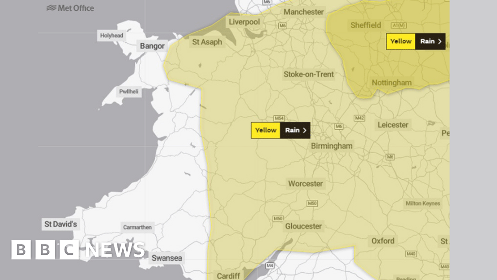 Weather warnings for rain and snow on Wednesday and Thursday