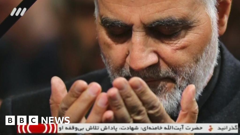 Skeptics Iranians mourn  Martyr  Soleimani
