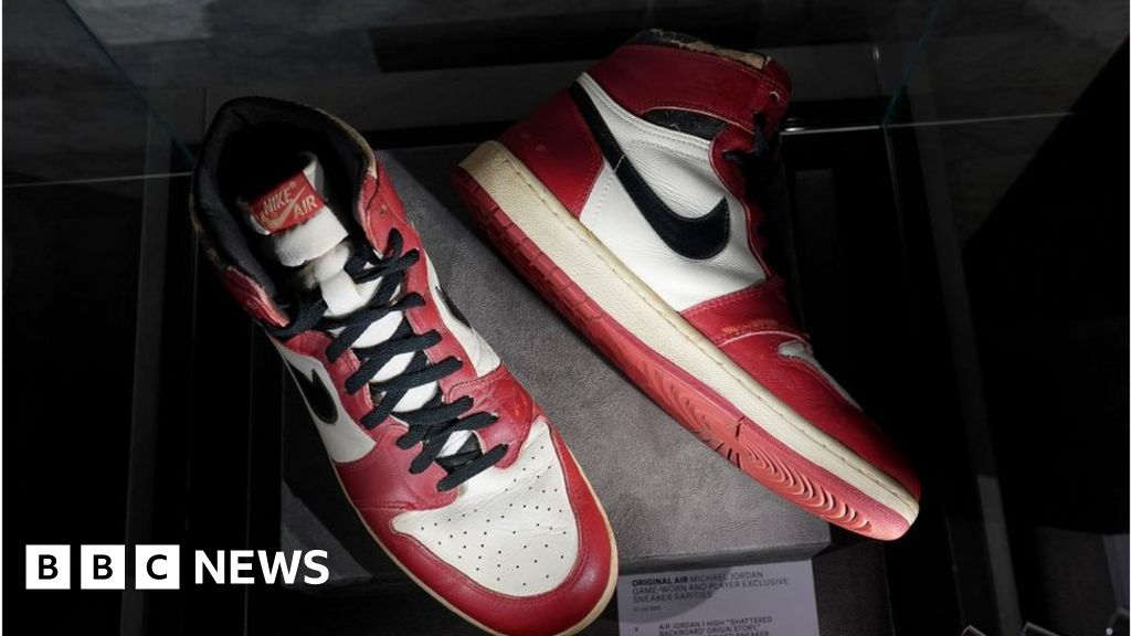 Michael Jordan: Rare trainers fetch $615,000 at auction
