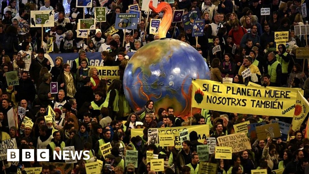 COP25: Thousands gather for change climate protests in Madrid