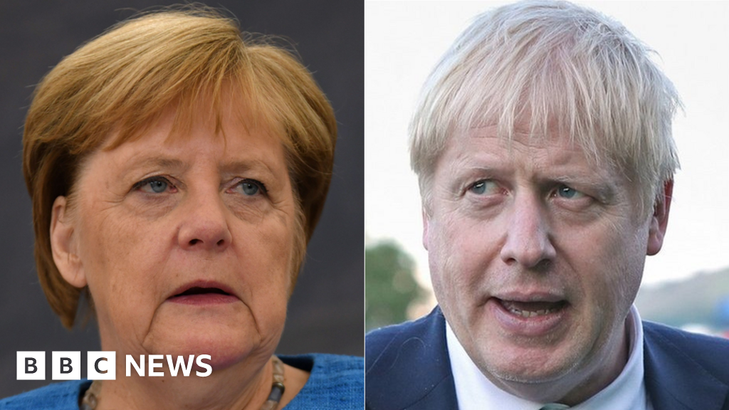 Johnson to meet Merkel with call to scrap backstop thumbnail