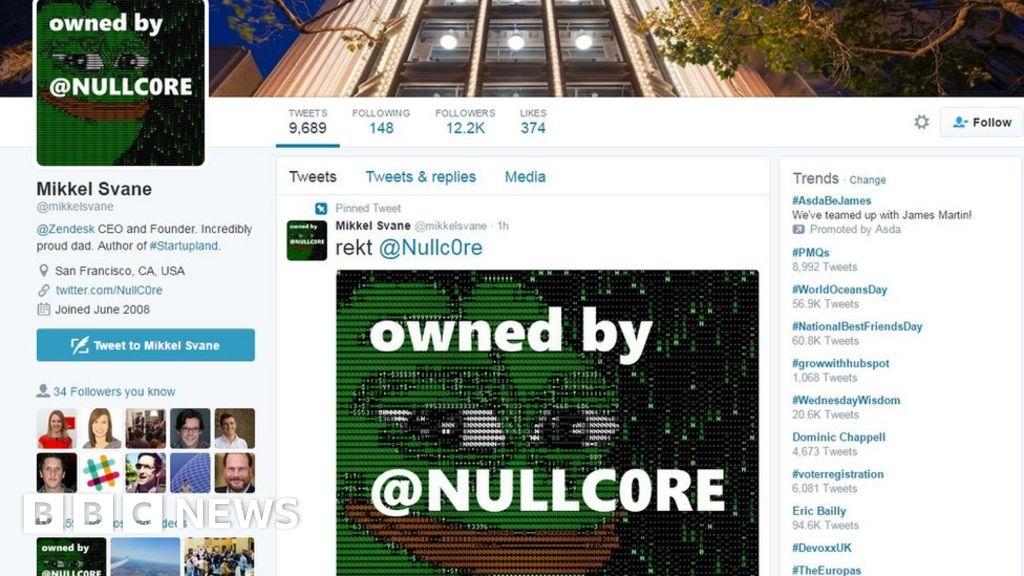 Bbc News Twitter: Zendesk Chief's Twitter Account Hacked