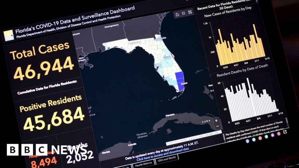 Police Raid Home Of Florida Covid 19 Tracker Creator Bbc News