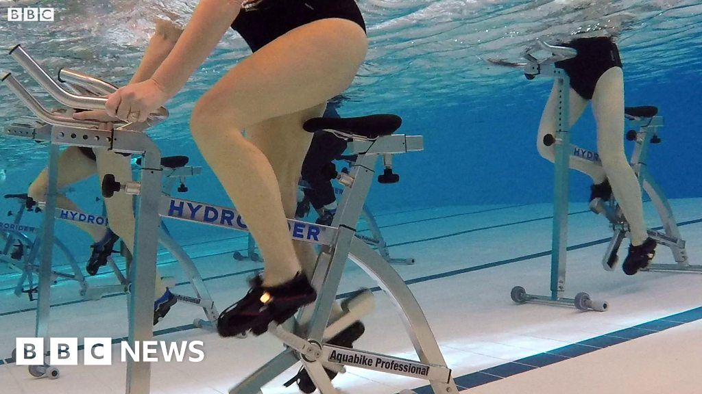 Aqua cycle launched at swimming pools in county durham bbc news for Chester le street swimming pool