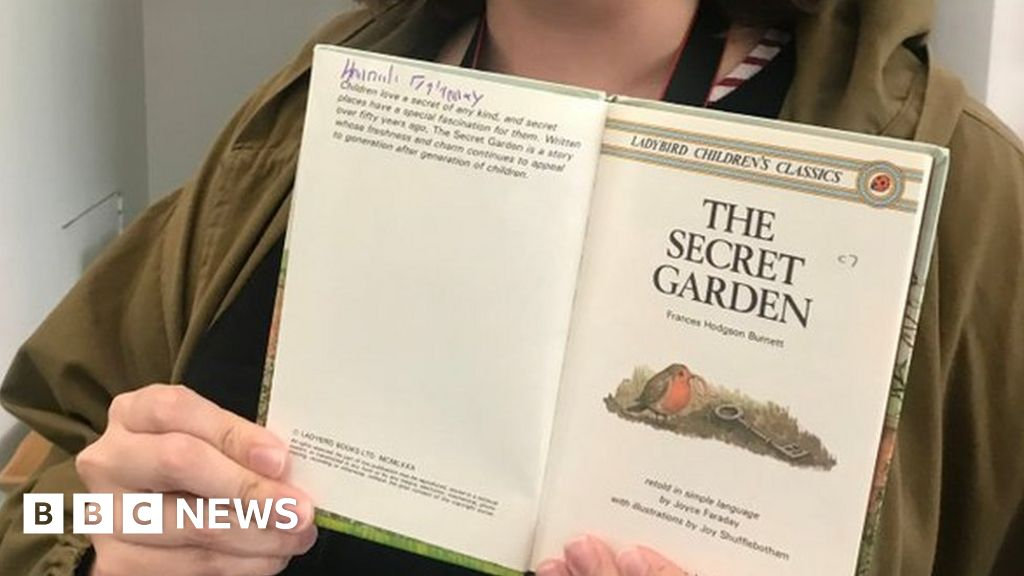 Woman finds her childhood book in museum