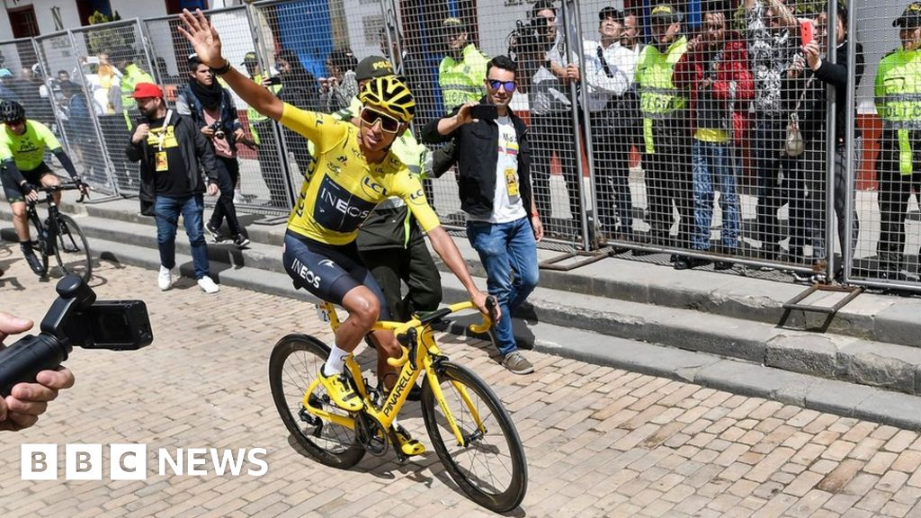 Tour de France champion Egan Bernal given hero s welcome in Colombia