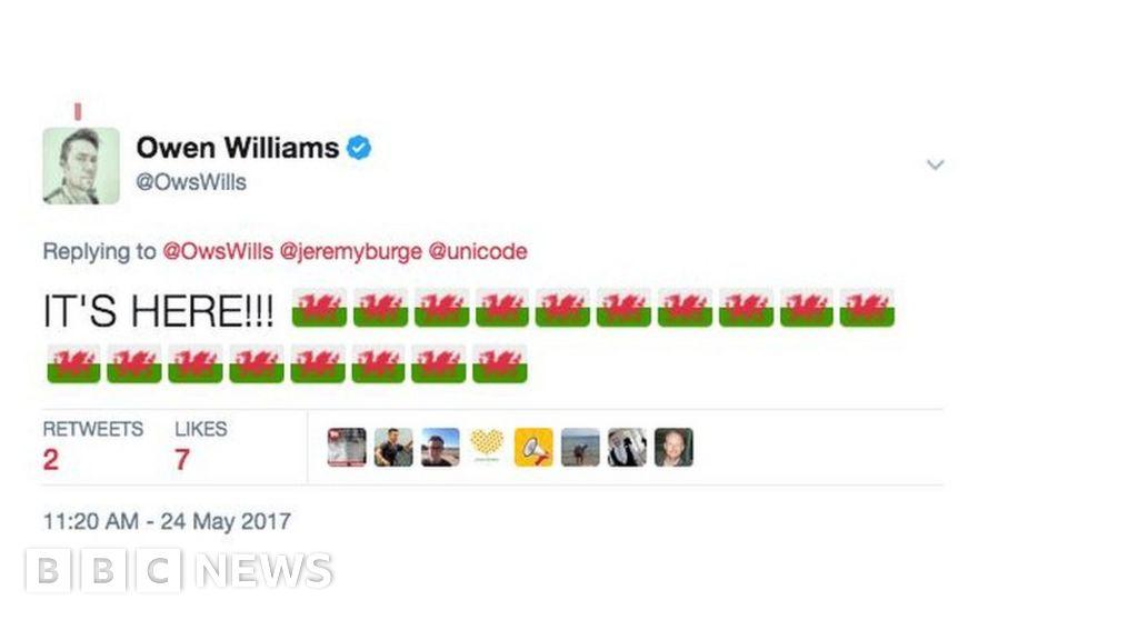 Wales flag emoji finally arrives on Twitter - BBC News