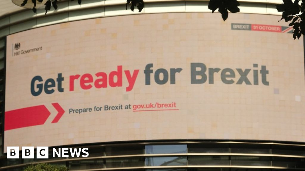 British EU exit date played down advertising in the government-shift