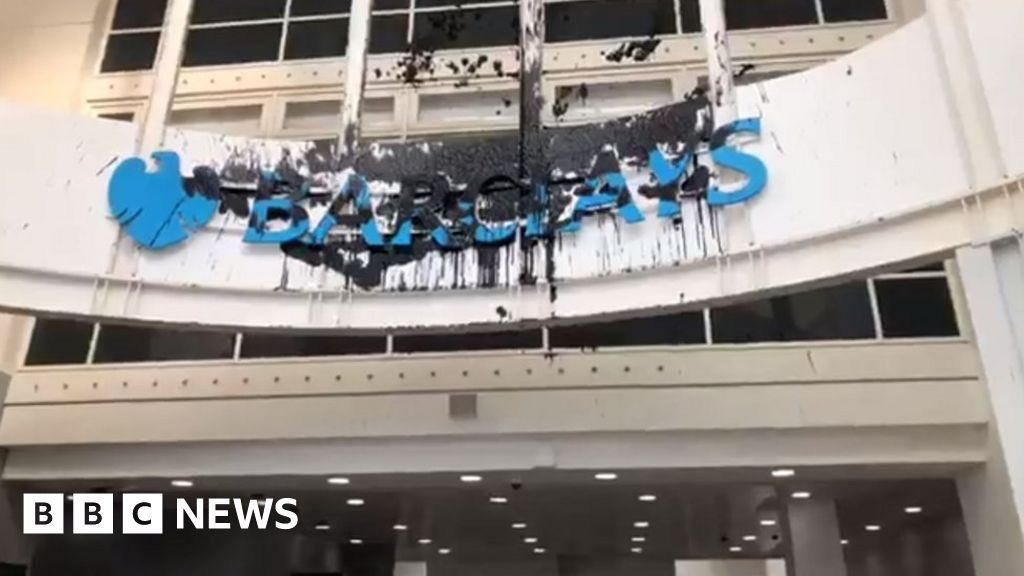 Fake oil used in Barclaycard HQ protest