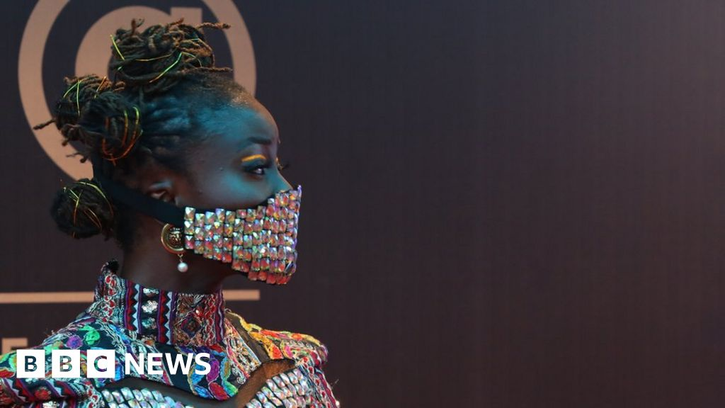 Coronavirus: Nigerian celebrities wear blinged-up masks - BBC News