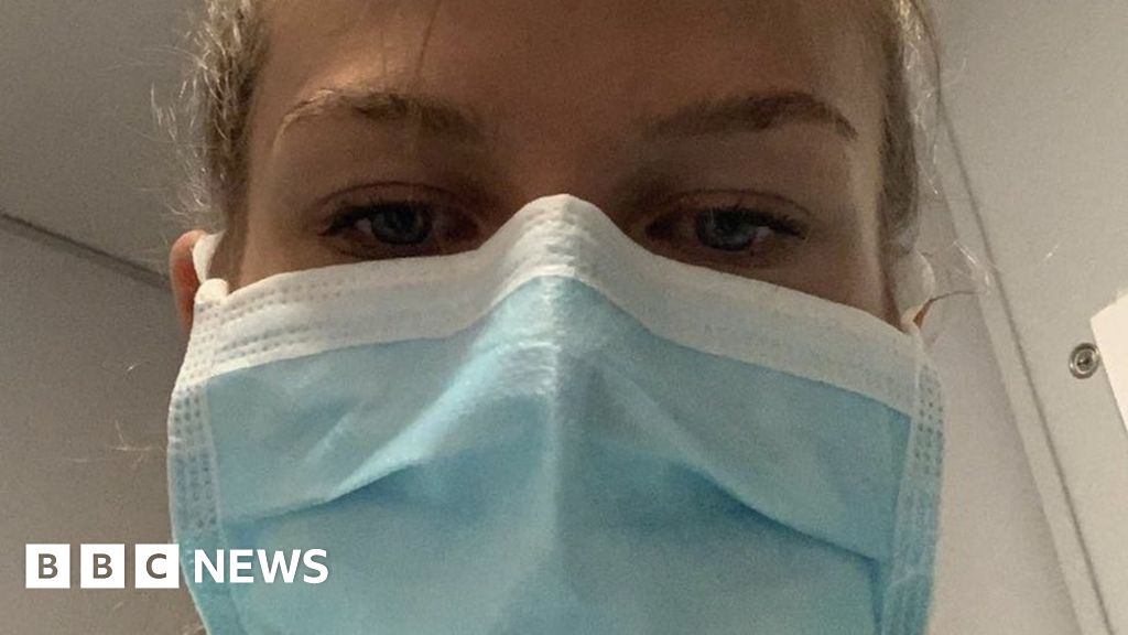 Coronavirus: West Yorkshire schoolgirl works on NHS wards
