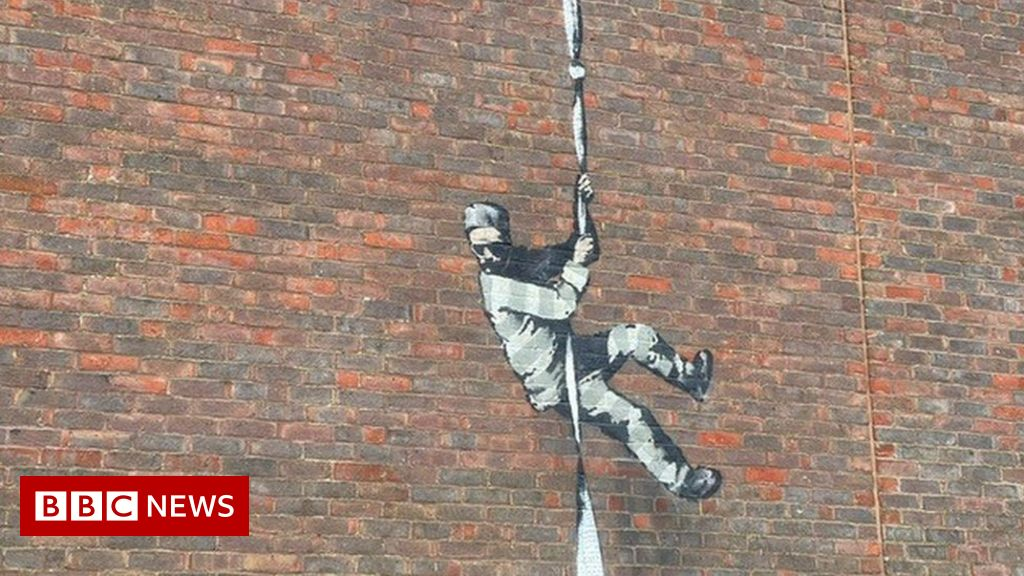 Possible 'Banksy' artwork appears on Reading prison wall
