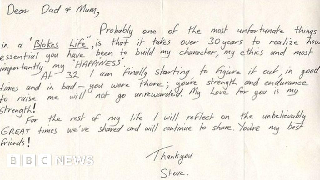 Steve Irwin letter reveals gratitude to parents - BBC News