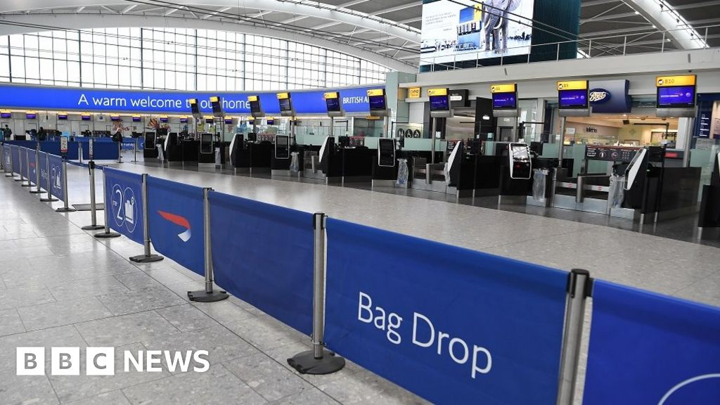 Terminal 5 at Heathrow Airport on Saturday