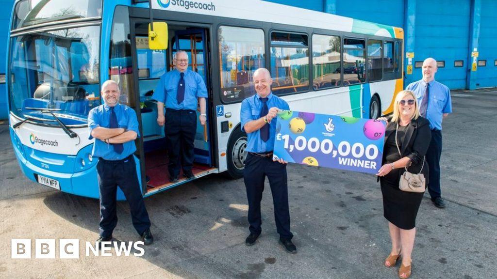 Carlisle Stagecoach bus drivers win EuroMillions £1m - BBC News