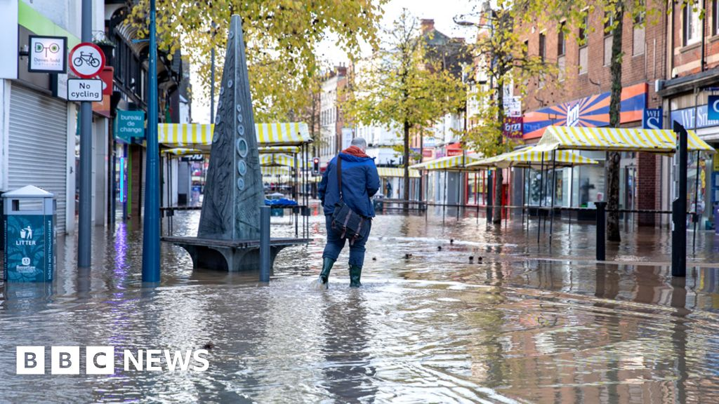 Rain floods parts of northern England