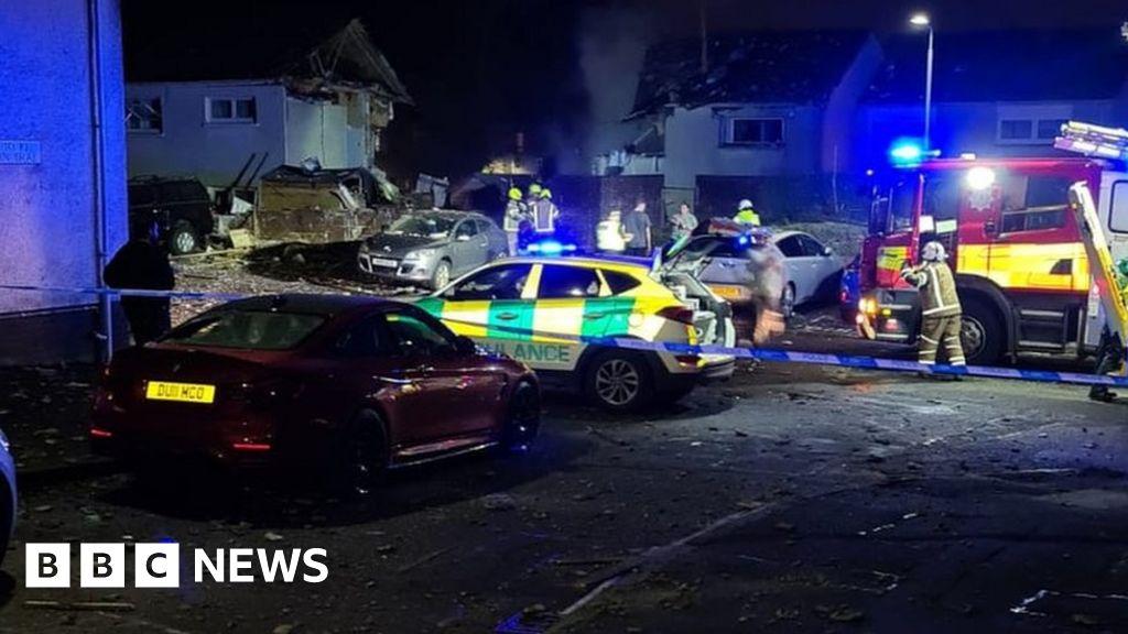 Emergency crews attend explosion in Ayr housing estate