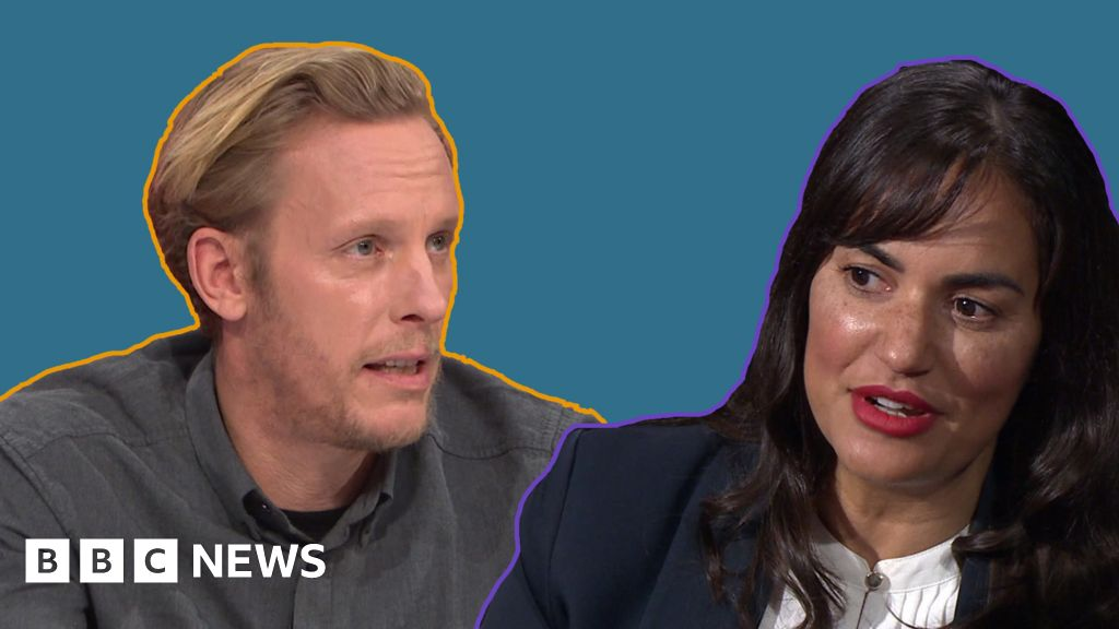 Actor Laurence Fox s question Time clash over Meghan Markle