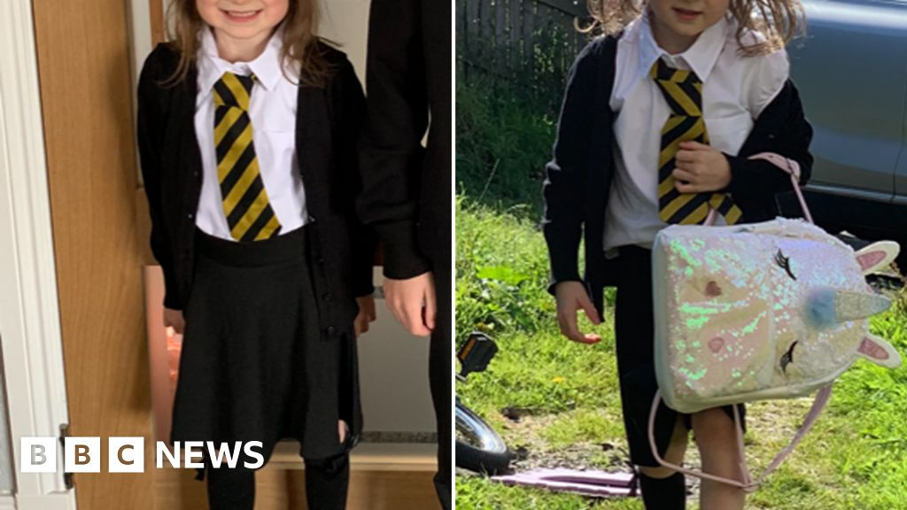 First day at school: Mum's before-and-after photos of daughter go viral