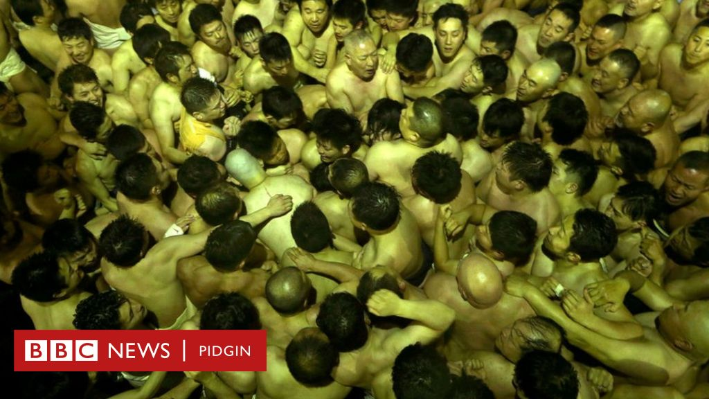 Thousands of pipo celebrate 'naked festival' for Japan