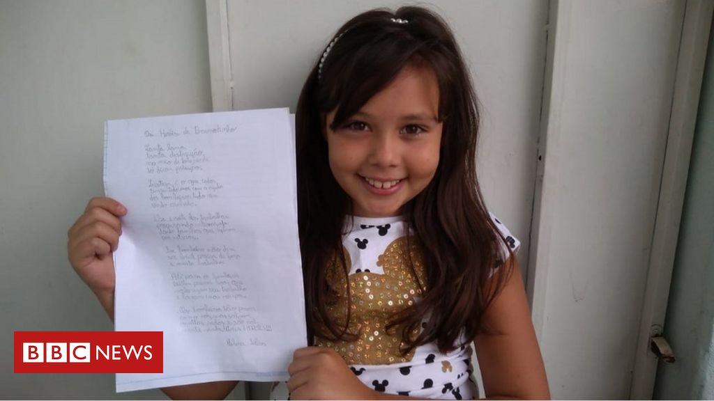 'Verdadeiros heróis': menina de 10 anos faz poema que emociona bombeiros de Brumadinho e teme barragem na cidade onde vive