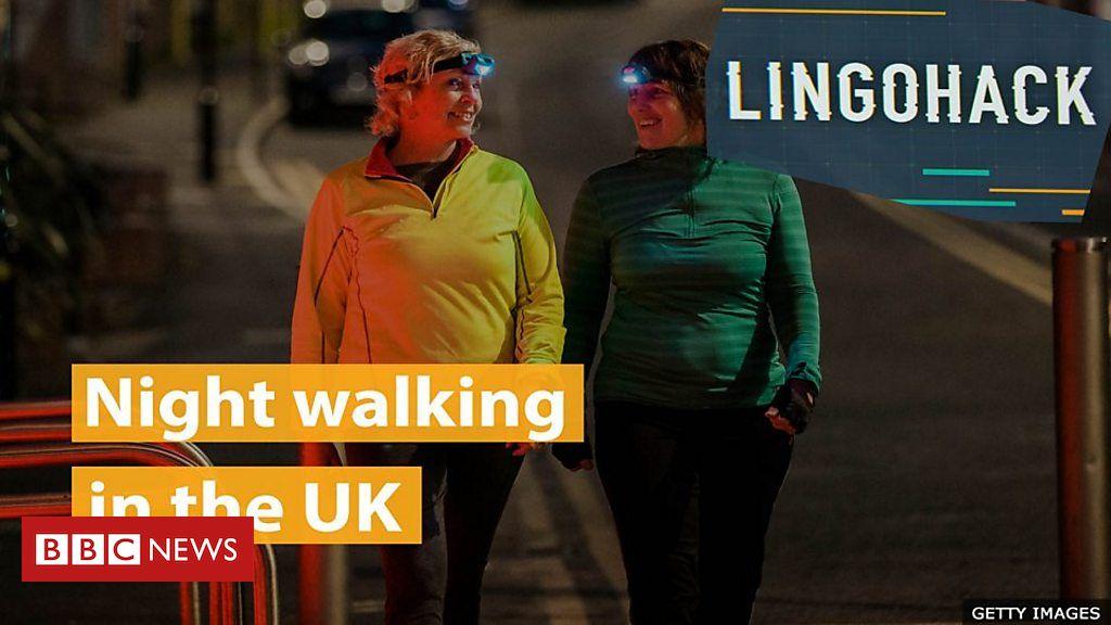 Caminhando à noite no Reino Unido