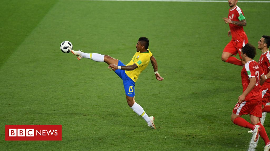 A história da incrível foto do gol  bailarino  de Paulinho - BBC News Brasil a74992b02ec62