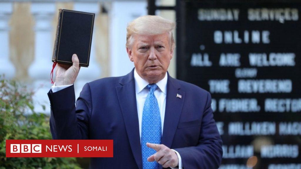 George Floyd: Booqashadii Trump ee kaniisadda oo ka nixisay hoggaamiyeyaasha diimaha
