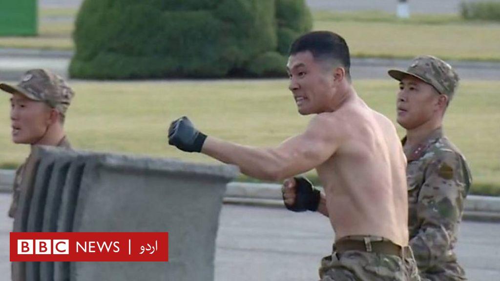 کِم جونگ اُن کے سامنے فوجی تربیت کا بڑا مظاہرہ thumbnail