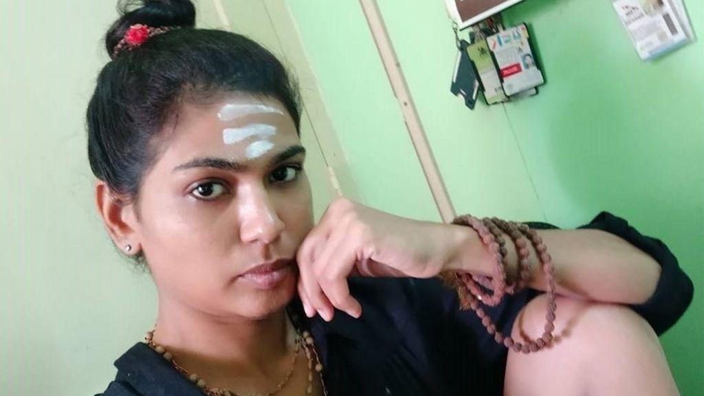Sabarimala India Activist Held For Explicit Thigh Photo Bbc News