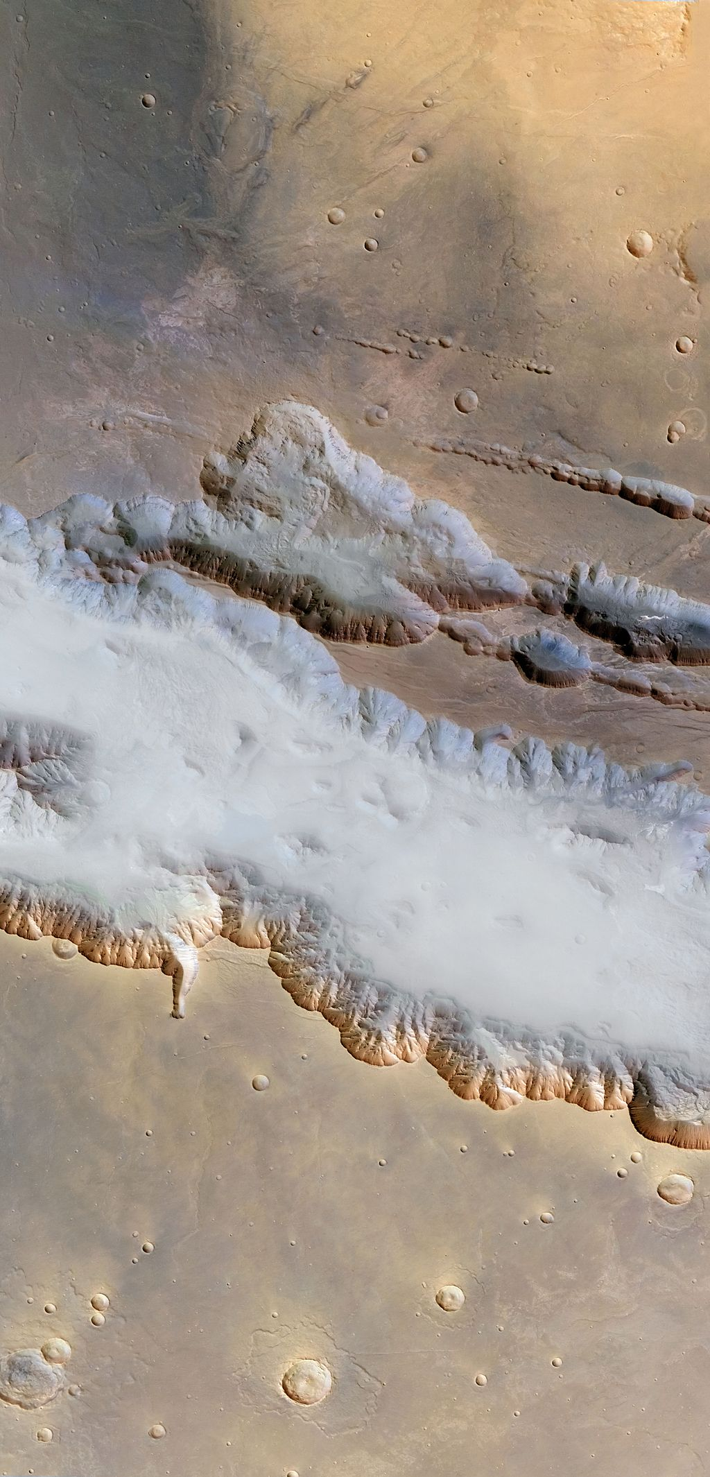 Ground fog in Valles Marineris, Mars, 2004
