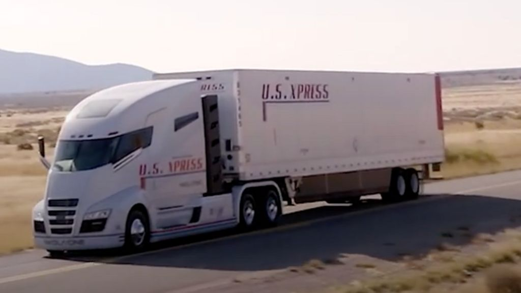 Nikola Electric Lorry Just Rolling Downhill In Promo Video Bbc News