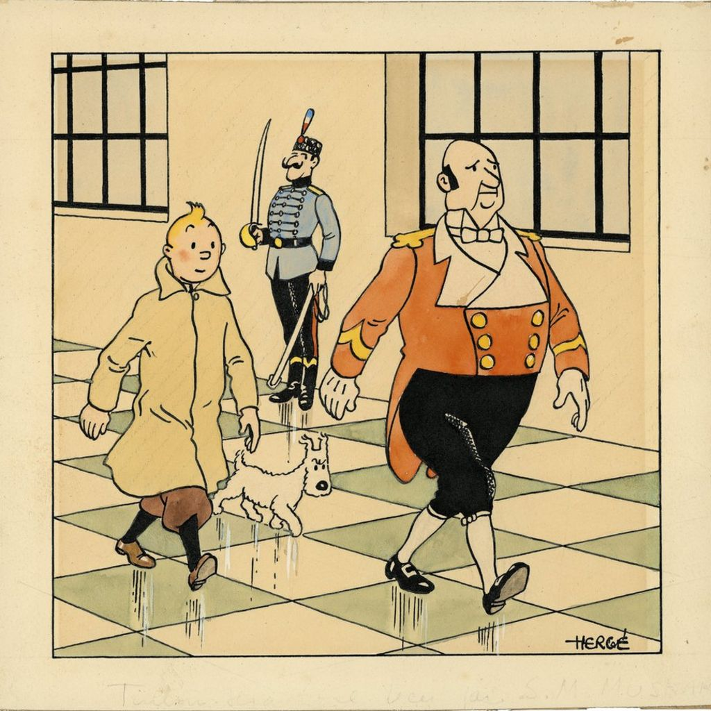 Rare Tintin Art Fetches 500,000 At Paris Auction - Bbc News-8313