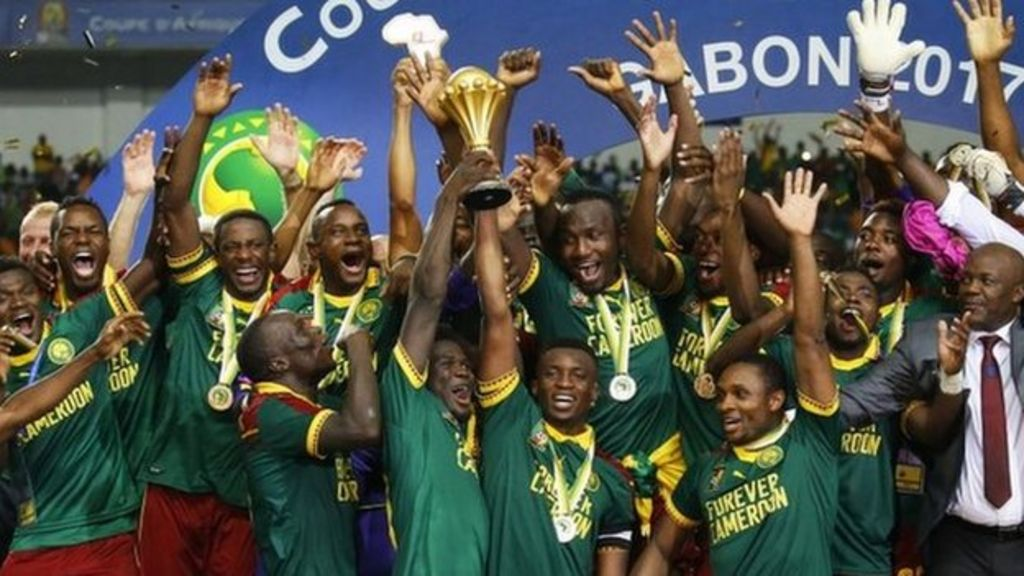 Image result for cameroon win afcon trophy