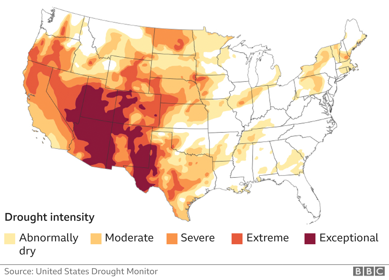 Infographic - US drought conditions