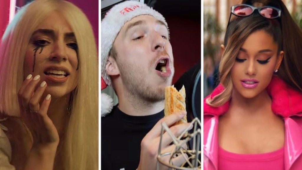 Ava Max, LadBaby and Ariana Grande