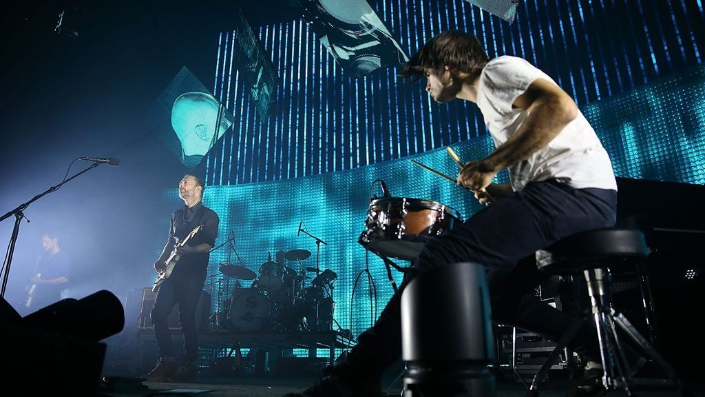 Radiohead playing live in 2012