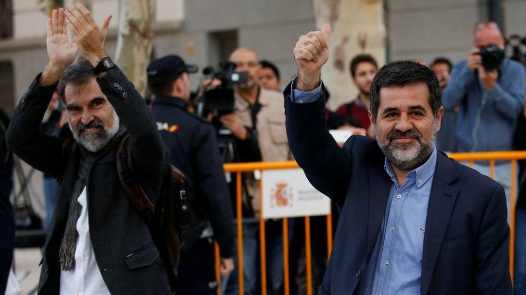 Catalan separatists in Spanish custody