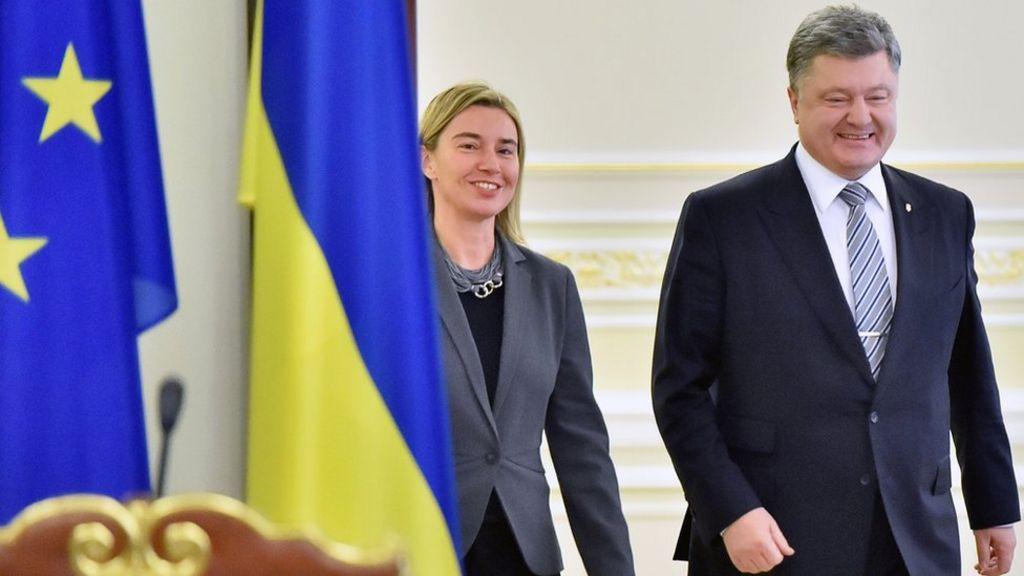 EU-Ukraine free trade 'set for 2016' - President Poroshenko - BBC News