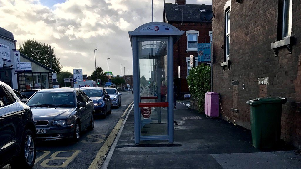 The bus stop on Kirkstall Road