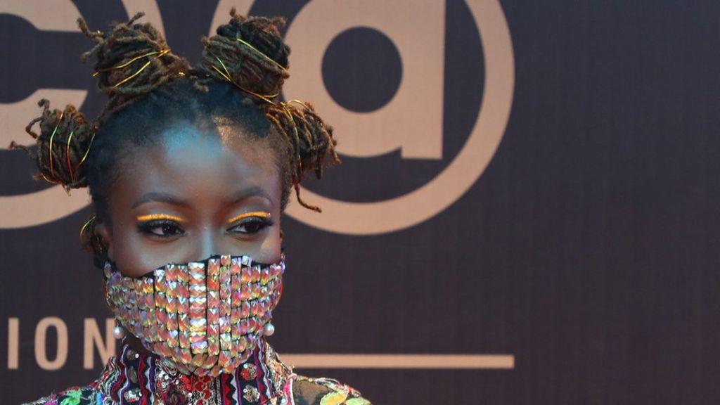Coronavirus Nigerian Celebrities Wear Blinged Up Masks Bbc News