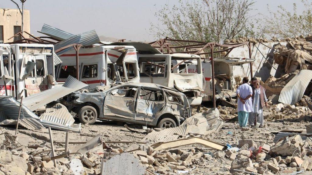 Afghanistan War Deadly Taliban Attack Destroys Hospital Bbc News
