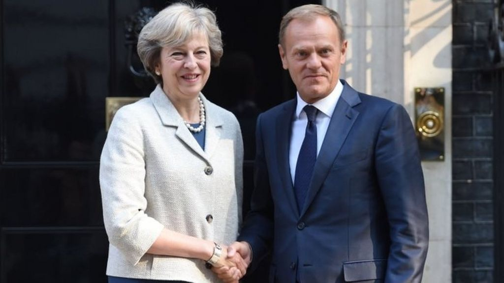 Brexit: Theresa May to meet Donald Tusk for talks
