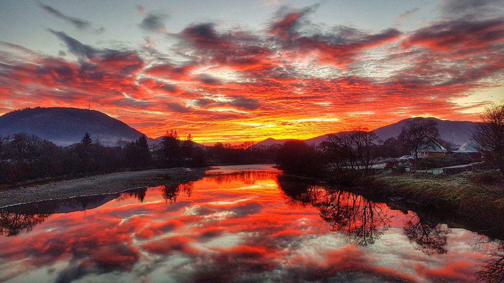 Sunset over Lochybridge